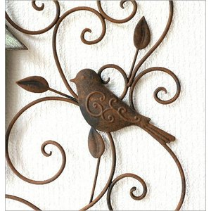 アイアン壁飾り 壁掛けインテリア リーフ 鳥 アイアン雑貨 ウォールデコレーション アイアンの壁飾り ウッドバードハウス|gigiliving|04