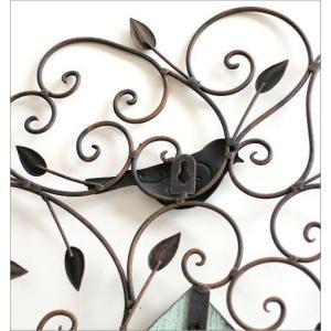 アイアン壁飾り 壁掛けインテリア リーフ 鳥 アイアン雑貨 ウォールデコレーション アイアンの壁飾り ウッドバードハウス|gigiliving|05