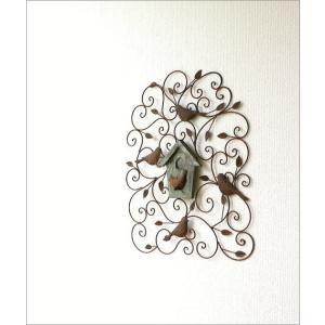 アイアン壁飾り 壁掛けインテリア リーフ 鳥 アイアン雑貨 ウォールデコレーション アイアンの壁飾り ウッドバードハウス|gigiliving|06