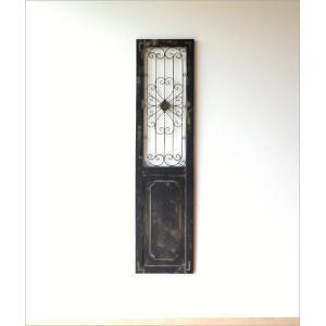 ドア 飾り おしゃれ インテリア 壁飾り 立て掛け アンティーク レトロ シャビー 壁掛け アイアン 木製 飾り窓 クラシック デコウッドのドア飾り|gigiliving|02