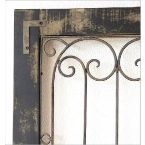 ドア 飾り おしゃれ インテリア 壁飾り 立て掛け アンティーク レトロ シャビー 壁掛け アイアン 木製 飾り窓 クラシック デコウッドのドア飾り|gigiliving|04