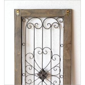 ドア 飾り おしゃれ インテリア 壁飾り 立て掛け アンティーク レトロ シャビー 壁掛け アイアン 木製 飾り窓 クラシック デコウッドのドア飾り|gigiliving|06