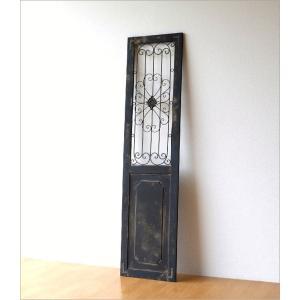ドア 飾り おしゃれ インテリア 壁飾り 立て掛け アンティーク レトロ シャビー 壁掛け アイアン 木製 飾り窓 クラシック デコウッドのドア飾り|gigiliving|07