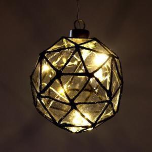 LEDライト ガラス ハンギングライト 吊り下げ 電池式 おしゃれ かわいい 多面体 ガラスのキューブライト|gigiliving