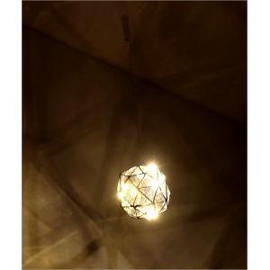 LEDライト ガラス ハンギングライト 吊り下げ 電池式 おしゃれ かわいい 多面体 ガラスのキューブライト|gigiliving|02