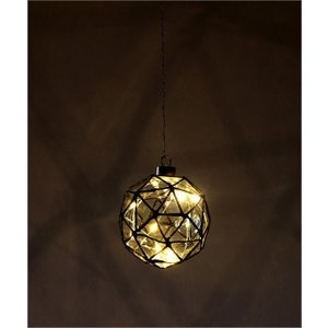 LEDライト ガラス ハンギングライト 吊り下げ 電池式 おしゃれ かわいい 多面体 ガラスのキューブライト|gigiliving|06