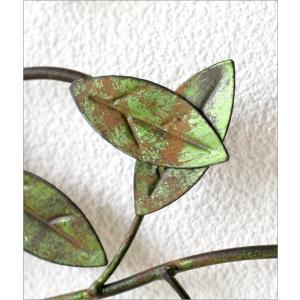 壁飾り アイアン 壁掛け インテリア アンティーク風 おしゃれ リーフ ナチュラル 植物 木 枝 ウォールデコ アートパネル アイアンの壁飾り グリーンブランチ gigiliving 03