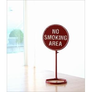 NO SMOKING AREA 禁煙 喫煙禁止 看板 スタンド 案内表示 標識 サイン 置物 おしゃれ カッコいい 玄関 ノースモーキングスタンド gigiliving 02