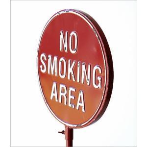 NO SMOKING AREA 禁煙 喫煙禁止 看板 スタンド 案内表示 標識 サイン 置物 おしゃれ カッコいい 玄関 ノースモーキングスタンド gigiliving 03
