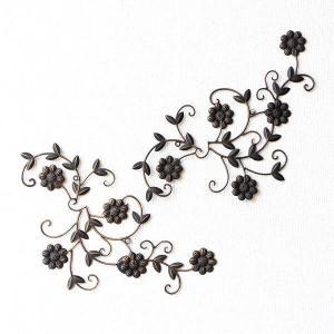 アイアン壁飾り アートパネル 壁掛け インテリア おしゃれ 花 フラワー アイアン壁飾りデージー2セット|gigiliving