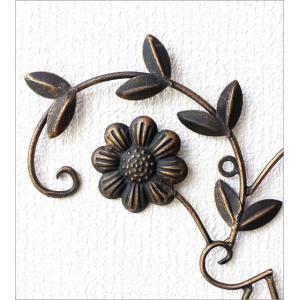 アイアン壁飾り アートパネル 壁掛け インテリア おしゃれ 花 フラワー アイアン壁飾りデージー2セット|gigiliving|03