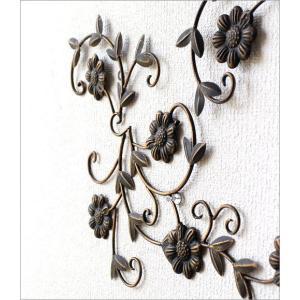 アイアン壁飾り アートパネル 壁掛け インテリア おしゃれ 花 フラワー アイアン壁飾りデージー2セット|gigiliving|04