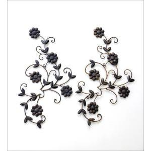 アイアン壁飾り アートパネル 壁掛け インテリア おしゃれ 花 フラワー アイアン壁飾りデージー2セット|gigiliving|05