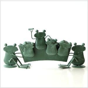 カエル 置物 玄関 ブリキ グッズ 雑貨 オブジェ サイン Welcome おしゃれ かわいい インテリア ブリキのカエル ウェルカムスタンド gigiliving 04