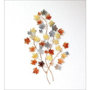 壁飾り 秋 紅葉 カエデ モミジ アイアン おしゃれ メープルリーフ 葉 シック 壁掛け インテリア ウォールデコ 植物 壁面 装飾 アイアンの壁飾り メープル gigiliving 04