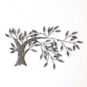 壁飾り アートパネル 木 リーフ ウォールデコ 壁掛け インテリア アイアンの壁飾り ウィンドツリー|gigiliving