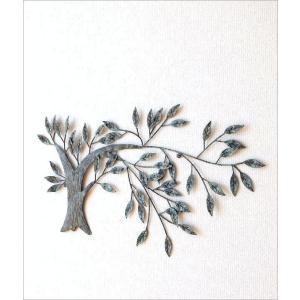 壁飾り アートパネル 木 リーフ ウォールデコ 壁掛け インテリア アイアンの壁飾り ウィンドツリー|gigiliving|02