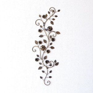 アイアン壁飾り ウォールデコレーション アートパネル 壁掛け インテリア ウォールパネル アイアンの壁飾り ローズバイン|gigiliving