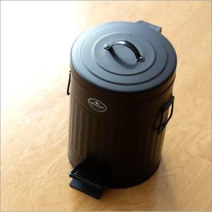 ゴミ箱 ペダル ふた付き おしゃれ 5L ペダルビン スチール 黒 ブラック モダン シンプル 洗面所 ダストボックス ダスト缶 ペダル付きゴミ箱 S|gigiliving