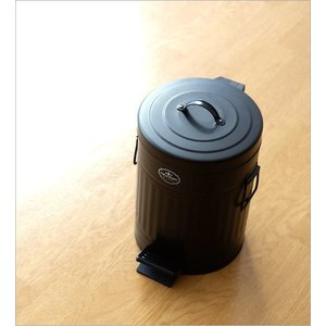 ゴミ箱 ペダル ふた付き おしゃれ 5L ペダルビン スチール 黒 ブラック モダン シンプル 洗面所 ダストボックス ダスト缶 ペダル付きゴミ箱 S|gigiliving|02