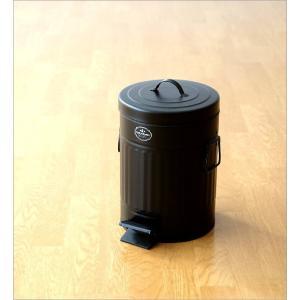 ゴミ箱 ペダル ふた付き おしゃれ 5L ペダルビン スチール 黒 ブラック モダン シンプル 洗面所 ダストボックス ダスト缶 ペダル付きゴミ箱 S|gigiliving|05