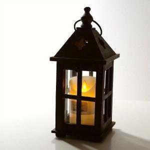 ランタン 木製 オブジェ 置物 置き物 オーナメント LEDキャンドルホルダー ナチュラル かわいい...