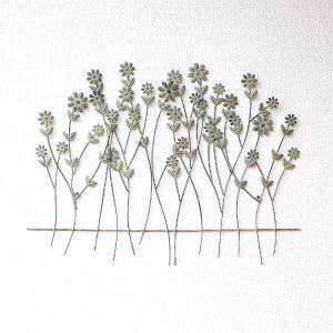 壁飾り アイアン 壁掛け インテリア おしゃれ ウォールデコ 花 植物 リーフ ナチュラル 玄関 リビング ウォールパネル アートパネル ウォールフラワーガーデン|gigiliving