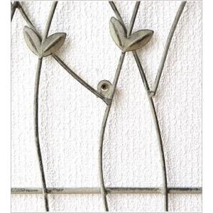 壁飾り アイアン 壁掛け インテリア おしゃれ ウォールデコ 花 植物 リーフ ナチュラル 玄関 リビング ウォールパネル アートパネル ウォールフラワーガーデン|gigiliving|04