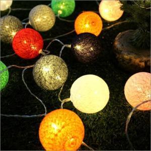 ガーランドライト 照明飾り ナチュラル ルームライト デコレーションライト (アウトレット)LEDボールランプ カラフルニット
