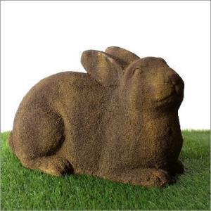 ガーデンオブジェ うさぎ ウサギ 置物 置き物 お庭 雑貨 シンボルマスコット ハウスサイン ガーデンモスビッグラビット|gigiliving