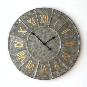 壁掛け時計 壁掛時計 掛け時計 掛時計 大きい 直径81cm アンティーク ヴィンテージ クラシック おしゃれ レトロ ウォールクロック ジャイアントスチールクロック|gigiliving