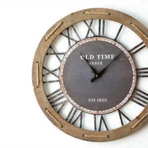 壁掛け時計 壁掛時計 掛け時計 掛時計 60cm 大きい 木製 アイアン クラシック ウォールクロック アンティーク レトロ おしゃれ ローマ数字 丸 ビッグな掛時計60|gigiliving
