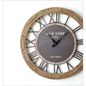壁掛け時計 壁掛時計 掛け時計 掛時計 60cm 大きい 木製 アイアン クラシック ウォールクロック アンティーク レトロ おしゃれ ローマ数字 丸 ビッグな掛時計60|gigiliving|02