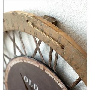 壁掛け時計 壁掛時計 掛け時計 掛時計 60cm 大きい 木製 アイアン クラシック ウォールクロック アンティーク レトロ おしゃれ ローマ数字 丸 ビッグな掛時計60|gigiliving|03