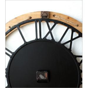 壁掛け時計 壁掛時計 掛け時計 掛時計 60cm 大きい 木製 アイアン クラシック ウォールクロック アンティーク レトロ おしゃれ ローマ数字 丸 ビッグな掛時計60|gigiliving|04