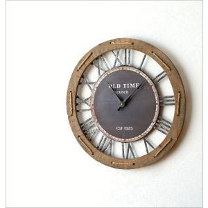 壁掛け時計 壁掛時計 掛け時計 掛時計 60cm 大きい 木製 アイアン クラシック ウォールクロック アンティーク レトロ おしゃれ ローマ数字 丸 ビッグな掛時計60|gigiliving|05