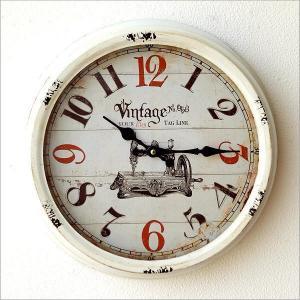壁掛け時計 壁掛時計 掛け時計 掛時計 アンティーク ヴィンテージ クラシック おしゃれ レトロ ビンテージ アンティークなウォールクロック シャビーホワイトL