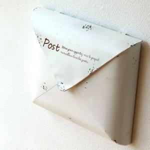 ポスト 郵便受け 新聞受け アンティーク レトロ 郵便ポスト 壁掛け 壁付け 玄関 おしゃれ シンプル アンティークなスティールポストA|gigiliving