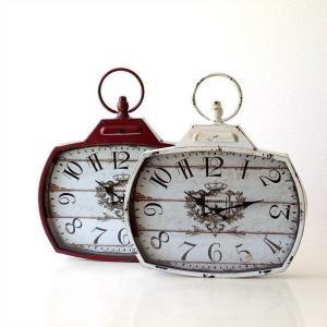 壁掛け時計 壁掛時計 掛け時計 掛時計 アンティーク ヴィンテージ クラシック おしゃれ アンティークなウォールクロック シャビースクエア2カラー|gigiliving