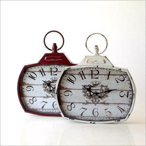 壁掛け時計 壁掛時計 掛け時計 掛時計 アンティーク ヴィンテージ クラシック おしゃれ アンティークなウォールクロック シャビースクエア2カラー|gigiliving|02
