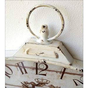 壁掛け時計 壁掛時計 掛け時計 掛時計 アンティーク ヴィンテージ クラシック おしゃれ アンティークなウォールクロック シャビースクエア2カラー|gigiliving|04