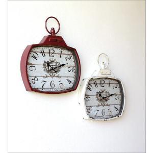 壁掛け時計 壁掛時計 掛け時計 掛時計 アンティーク ヴィンテージ クラシック おしゃれ アンティークなウォールクロック シャビースクエア2カラー|gigiliving|06