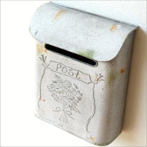 ポスト 郵便受け 新聞受け アンティーク レトロ 郵便ポスト 壁掛け 壁付け 玄関 おしゃれ シンプル アンティークなスティールポストB|gigiliving