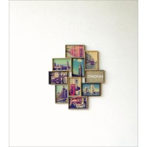 フォトフレーム 壁掛け おしゃれ 木製 複数 多面 10枚 10面 10窓 ファミリー シンプル モダン 北欧 デザイン 壁面 壁飾り インテリア 10連コラージュフレーム|gigiliving|02
