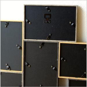 フォトフレーム 壁掛け おしゃれ 木製 複数 多面 10枚 10面 10窓 ファミリー シンプル モダン 北欧 デザイン 壁面 壁飾り インテリア 10連コラージュフレーム|gigiliving|04