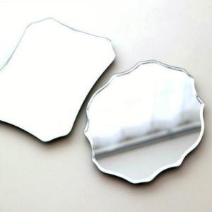 鏡 卓上ミラー 壁掛けミラー スタンドミラー ウォールミラー シンプル かわいい おしゃれ コンパクト デザイン ルディックミラー 2タイプ|gigiliving