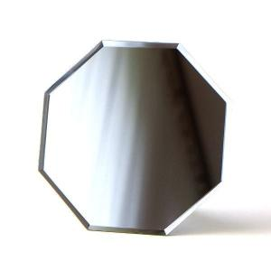 鏡 八角ミラー 八角形 壁掛け 卓上 おしゃれ シンプル 風水 スタンド&ウォールミラー八角|gigiliving