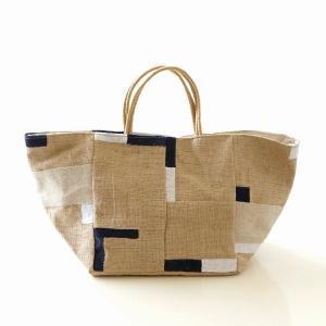 ポイント刺繍のジュートバッグ BE|gigiliving