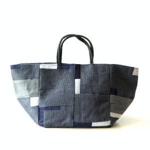 ポイント刺繍のジュートバッグ NV|gigiliving