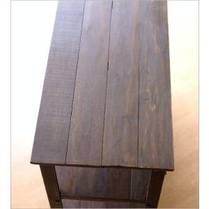 棚 本棚 飾り棚 アイアン ウッドラック 木製 アンティーク 家具 おしゃれ ヴィンテージ シャビーシックなコンソールシェルフ4段|gigiliving|04